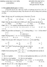 Đề kiểm tra học kì II lớp 9 môn Toán - Phòng Giáo dục Cát Tiên, Lâm Đồng (Đề 13) đề kiểm tra môn toán