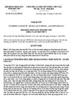 Nghị quyết 61/2012/NQ-HĐND nhiệm vụ kinh tế - xã hội, quốc phòng - an ninh năm 2013 của tỉnh phú yên