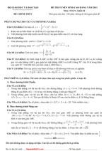 Đáp án đề thi Cao Đẳng môn Vật lý kỳ thi cao đẳng năm 2012