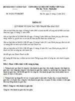 Thông tư 54/2012/TT-BGDĐT quy định về cộng tác viên thanh tra giáo dục