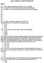Đề thi trắc nghiệm môn lý thuyết thống kê - Đề 3