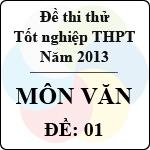 Đề thi thử tốt nghiệp THPT năm 2013 - môn Ngữ văn (Đề 1) đề thi thử môn văn