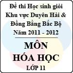 Đề thi học sinh giỏi khu vực Bắc Bộ năm học 2011 - 2012 môn Hóa học lớp 11 đề thi học sinh giỏi
