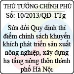Quyết định số 10/2013/QĐ-TTg chế độ phụ cấp đặc thù đối với cán bộ, chiến sĩ trực tiếp làm công tác thi hành án hình sự