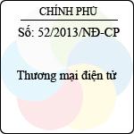 Nghị định 52/2013/NĐ-CP thương mại điện tử