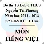 Đề thi tuyển sinh vào lớp 6 môn Tiếng Việt năm 2013 - Trường THCS Nguyễn Tri Phương đề thi vào lớp 6