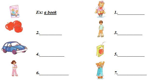 Đề thi học kì hai môn Tiếng Anh lớp 1