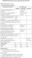Đề kiểm tra học kì II lớp 7 môn Giáo dục công dân - Đề số 1