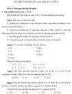 Đề kiểm tra học kì I lớp 8 môn Hóa học - Đề 2