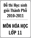 Đề thi học sinh giỏi thành phố Đà Nẵng môn Hóa lớp 11 năm học 2010 - 2011 (Có đáp án)