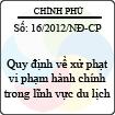 Nghị định số 16/2012/NĐ-CP