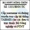Công văn 1331/BNN-TC