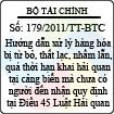 Thông tư số 179/2011/TT-BTC