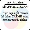 Công văn 2964/BTC-KBNN