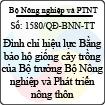 Quyết định 1580/QĐ-BNN-TT