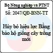 Quyết định 2047/QĐ-BNN-TT