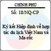 Nghị quyết 18/NQ-CP