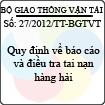 Thông tư số 27/2012/TT-BGTVT