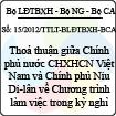 Thông tư liên tịch số 15/2012/TTLT-BLĐTBXH-BCA-BNG