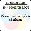 Thông báo 48/2011/TB-LPQT