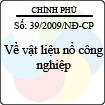 Nghị định số 39/2009/NĐ-CP