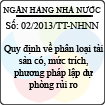 Thông tư 02/2013/TT-NHNN