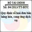 Thông tư 64/2013/TT-BTC