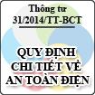 Thông tư 31/2014/TT-BCT