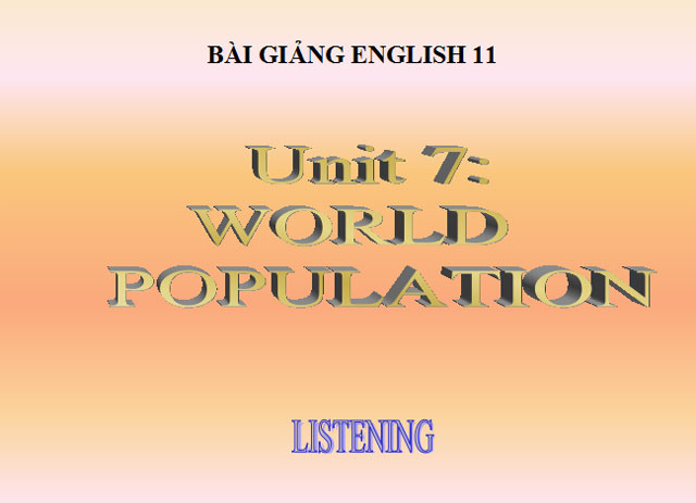 Tiếng Anh 11 unit 7