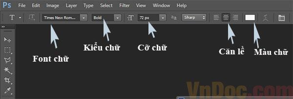 Cách viết text trong Photoshop