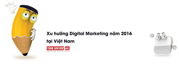 Xu hướng Digital Marketing năm 2016 tại Việt Nam