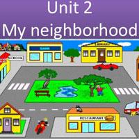 Bài tập trắc nghiệm Tiếng Anh lớp 8 Unit 7 My Neighborhood