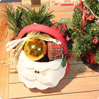 Cách làm giỏ đựng quà Noel đẹp lung linh