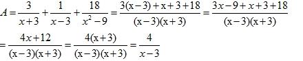 Đáp án môn toán lớp 8