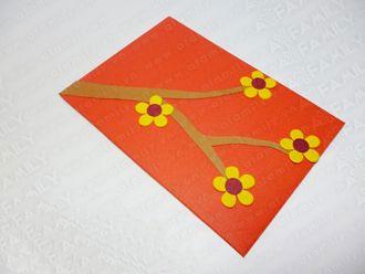 Cách làm phong bao lì xì hình hoa mai cực đẹp đón Tết
