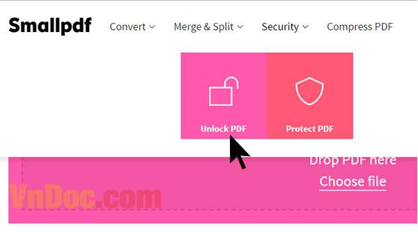 Cách mở mật khẩu file PDF online