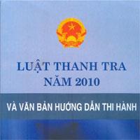 Luật thanh tra số 56/2010/QH12