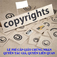 Thông tư 29/2009/TT-BTC quy định về lệ phí cấp giấy chứng nhận quyền tác giả, quyền liên quan