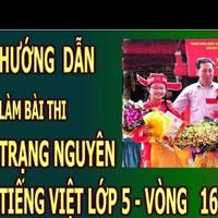 Đề thi Trạng Nguyên Tiếng Việt Lớp 5 Vòng 16 năm học 2016