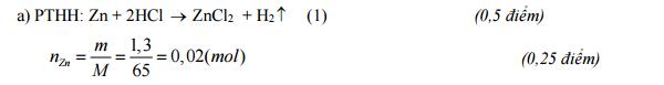 Đáp án Đề thi học kì 2 môn Hóa học