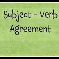 Bài tập về sự hòa hợp giữa chủ ngữ và động từ