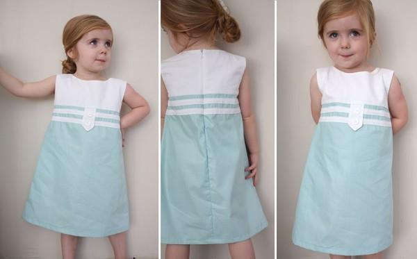 Cách may váy suông cho bé tung tăng diện trong mùa hè