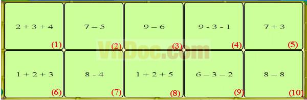 Đề thi violympic toán lớp 1 vòng 9