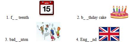 Đề thi giữa học kì 1 môn Tiếng Anh lớp 4