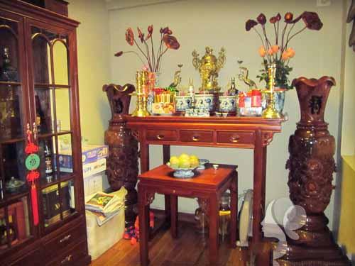Thủ tục chuyển bát hương và giải bàn thờ cũ