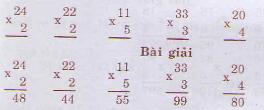 Giải bài tập trang 21, 22 SGK Toán 3