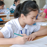 Đề thi học kì 1 lớp 1 môn Toán, Tiếng Việt trường tiểu học Toàn Thắng năm 2015 - 2016