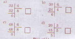 Giải bài tập trang 29, 30 SGK Toán 3