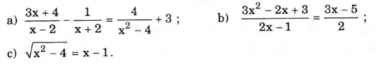 Giải bài tập trang 70, 71, 72 SGK Đại số 10: Ôn tập chương 3