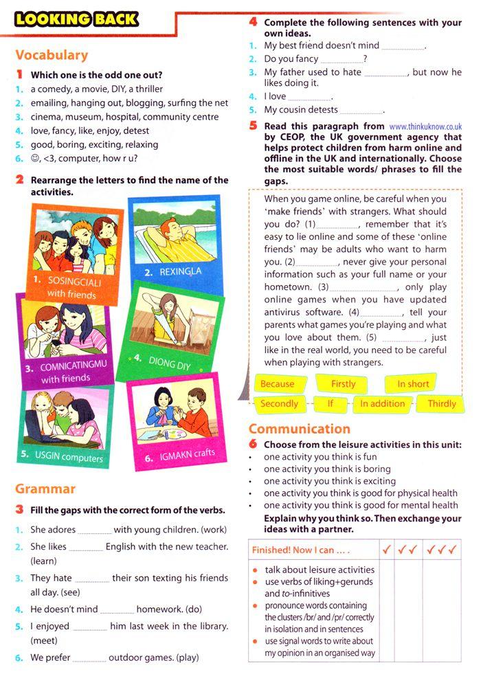 Bài tập Tiếng Anh lớp 8 Unit 1